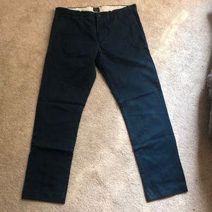"Jcrew ""Broken in"" navy blue dress pants"